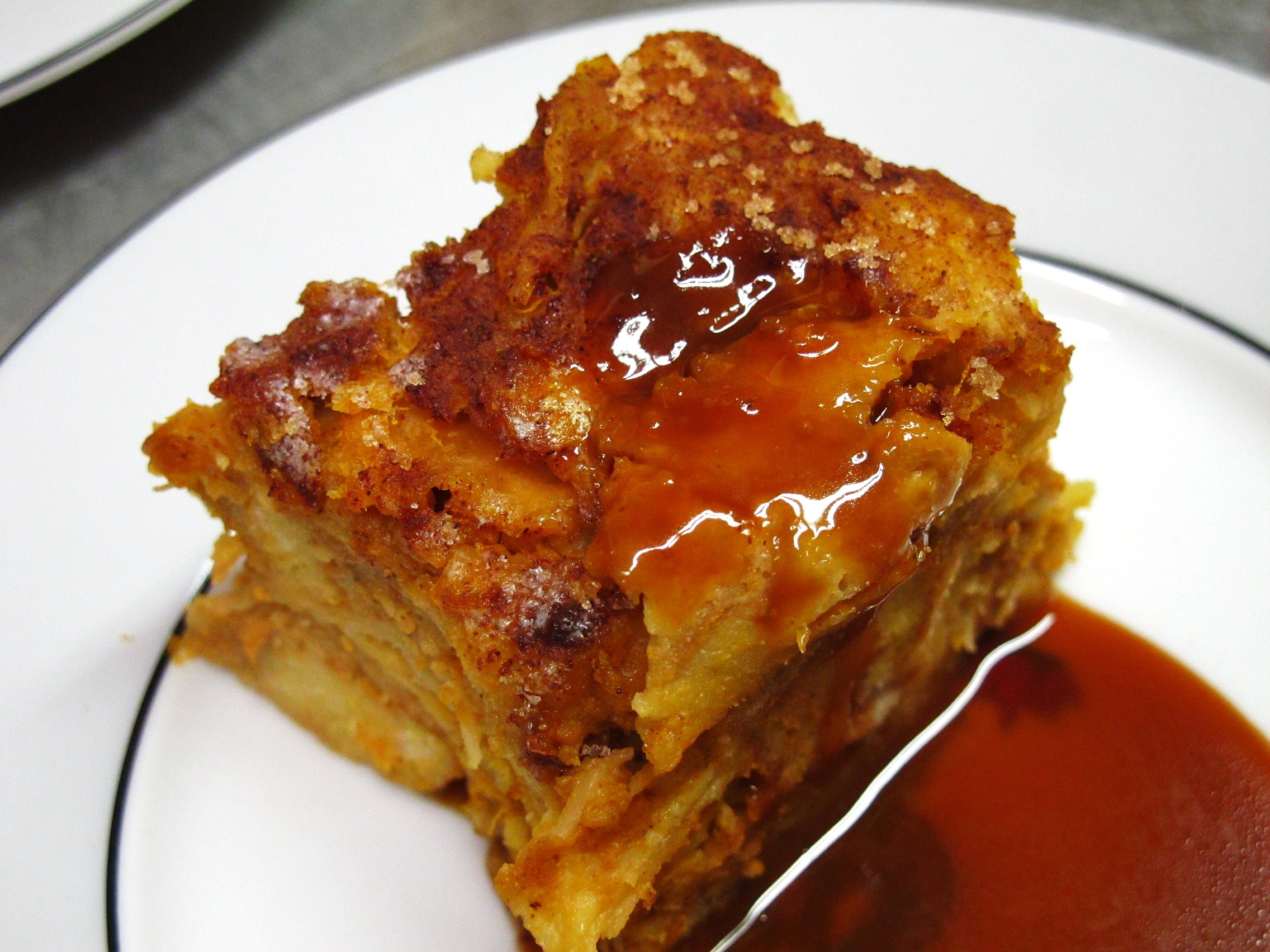 caramel apple bread pudding apples and spice cinnamon bread pudding ...